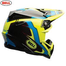 bell helmets motocross bell motorcycle helmets bell moto 9 flex factory blue hi viz