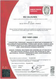 bureau veritas valenciennes certificates