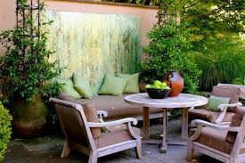Garden Wall Paint Ideas Farmhouse Outdoor Wall With Garden Wall Patio Traditional And