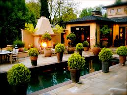 Pool Patio Decorating Ideas by Decorating Large Rectangular Modern Planters With Pool And Tile