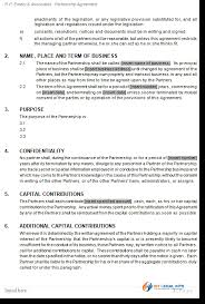 general partnership agreement deed of partnership contract