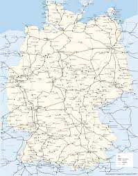 Bamberg Germany Map by Germany Deutschland Train Rail Maps