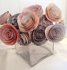 paper flower centerpieces paper flowers paper roses pink roses wedding centerpieces