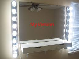 bedroom charming image of build a vanity mirror with lights