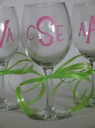 home accessories monogrammed wine glasses personalized stemless