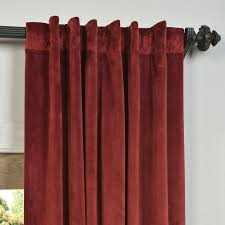 signature burgundy blackout velvet pole single panel
