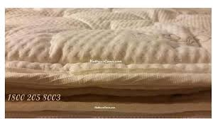 pillow top cover foam u0026 latex mattresses 1 800 205 8003 for king