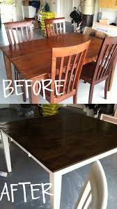 Refinishing Dining Room Table Refinishing A Dining Room Table With Paint And Wood Stain Wood
