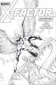 coloring iceman and angel picture