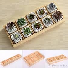 new design succulent plants wood tray small planter flowerpot
