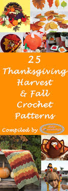 thanksgiving harvest and fall crochet pattern roundup nicki s