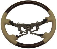toyota steering wheel 2003 2004 toyota avalon steering wheel ivory leather u0026 wood new