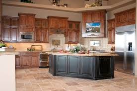 kitchen cabinets walnut rustic kitchen cabinet refacing white granite countertop brown