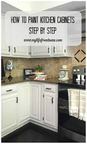 How Much To Paint Kitchen Cabinets Diy How I Painted My Kitchen Cabinets My From Home