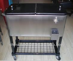 patio beverage cooler cart stainless steel patio cooler beverage cart suitable cooler