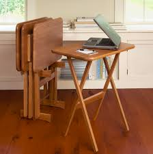 livingroom manchester furniture fold up oak wood tv tray table set design for living