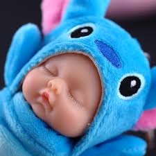 baby keychain fashion simulation sleep baby doll keychain plush