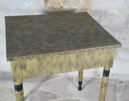 igavel auctions american mustard yellow painted wood side table