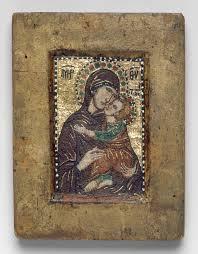 Painting Icon Portable Icon With The Virgin Eleousa Work Of Art Heilbrunn