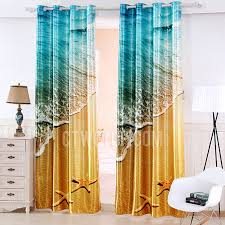 Blue And Gold Curtains Cool Three Dimensional Printed Blue And Gold Modern Curtains