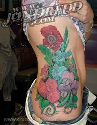crucial tattoo studio maryland custom tattoos sweet pea bouquet
