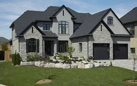 image result for grey stone and stucco exterior houses next