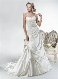 Dress And Jacket For Wedding Sweetheart Corset Back Draped Satin Wedding Dress With Lace Sleeve
