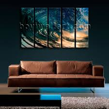big wall art canvas print hd ocean wave surf sunset contemporary large painting