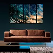 big wall art canvas print hd ocean wave surf sunset contemporary