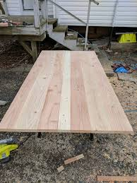 table top glue up anna white style table album on imgur