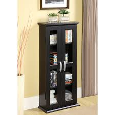 Media Cabinets With Doors Walker Edison 41 Media Storage Cabinet Black
