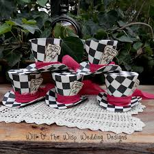 top hats checkered in mad hatter
