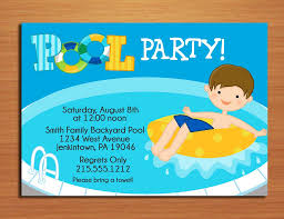 Design Your Pool by Pool Party Invitation Template Theruntime Com