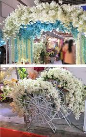 artificial wisteria flower garland branch wedding decoration