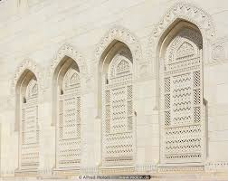 ornamental windows picture architecture muscat oman