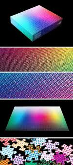 color spectrum puzzle clemens habicht created a 1000 piece puzzle that represents the