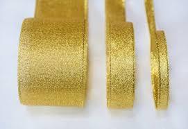 metallic ribbon metallic lurex ribbon gold 5 8 inch ribbonbazaar