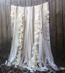Burlap Ruffle Curtain Burlap Curtains Ribbon Lace Curtain Rustic Garland Wedding