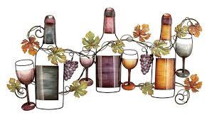 new wine bottle glass 36w hanging metal wall art kitchen home
