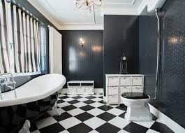 Striped Bathroom Walls 15 Black And White Bathroom Ideas Design Pictures Designing Idea