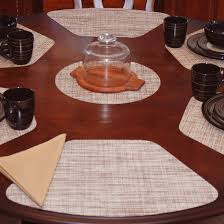 placemats for round table wedge placemats brown tan wipe clean wedge shaped round table