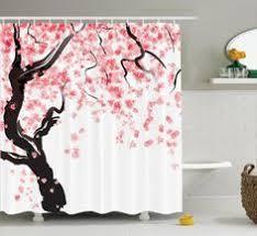 Walmart Com Shower Curtains Mainstays Pink Blossom Fabric Shower Curtain U2022cherry Blossom And