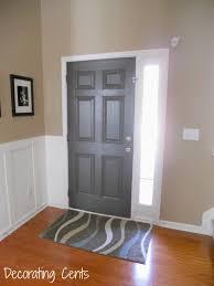 Front Door Interior Decorating Cents Gray Front Door
