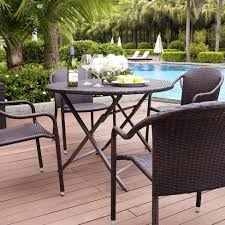 Wicker Patio Dining Table Palm Harbor 5 Wicker Patio Dining Furniture Set Target