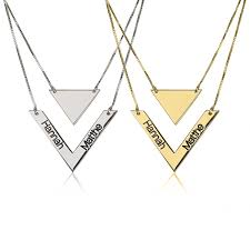 Jewelry With Names Long Chevron Necklace
