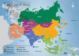 map of asai map of the regions of asia teaching resource teach starter