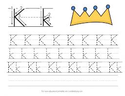 letter k handwriting practice