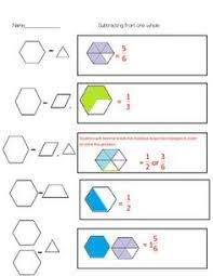 pattern blocks math activities pattern block flexible unit fraction cooperative activity math