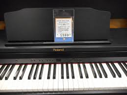 roland home digital piano with bench classic black long