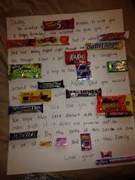 40th birthday candy card love this going to make one for my